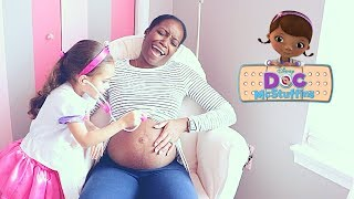DOC MCSTUFFINS GIVES PREGNANT MOMMY CHECKUP AND SHOT!!