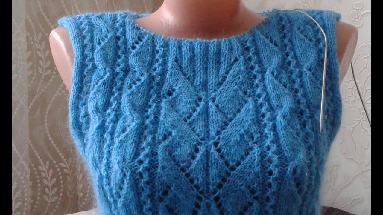 Ютуб вязание на спицах свитера 48