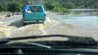 Zacualpan River Runs Over Road Towards San Blas