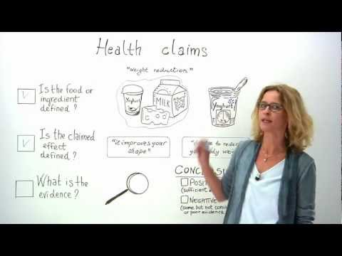 What are health claims and how are they assessed?