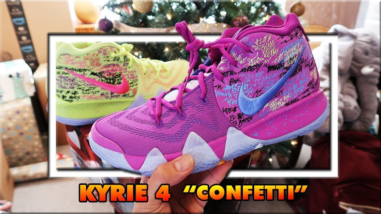 ff6f5224409d coupon code for 2017 kyrie 4 confetti shoe review 1080p60 up close c7f01  67175