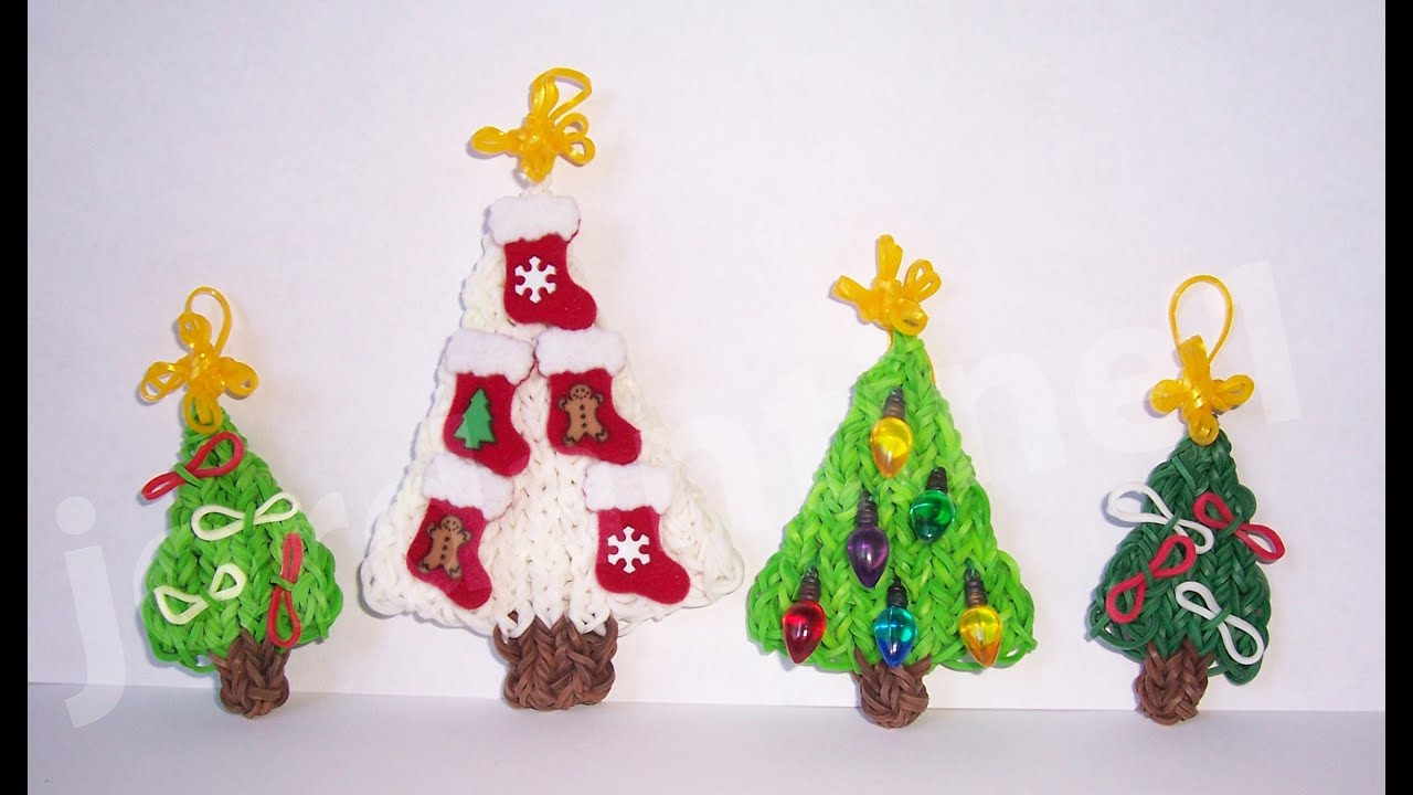 Rainbow Loom Mini Star Christmas Tree Topper Ornament Charm - YouTube