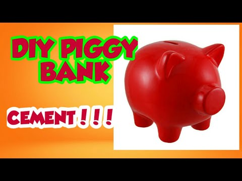 HOW TO MAKE DIY CEMENT PIGGY BANK AT HOME EASY STEP BY STEP