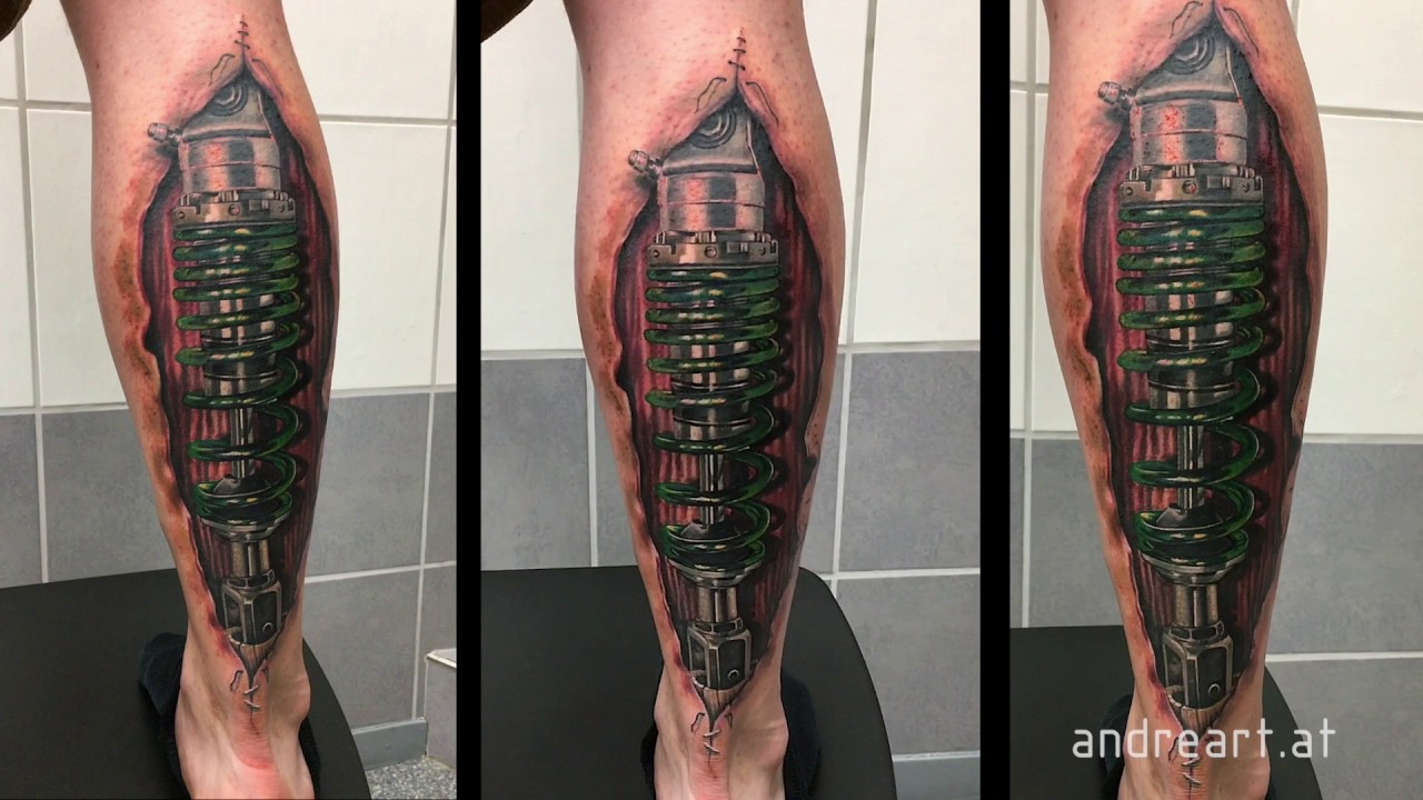 Shock absorber tattoo youtube for Shock absorber tattoo