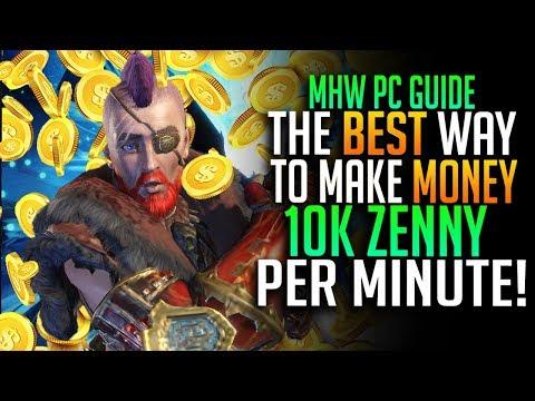The Best Way To Make Money In MHW! 10k Zenny Per Minute