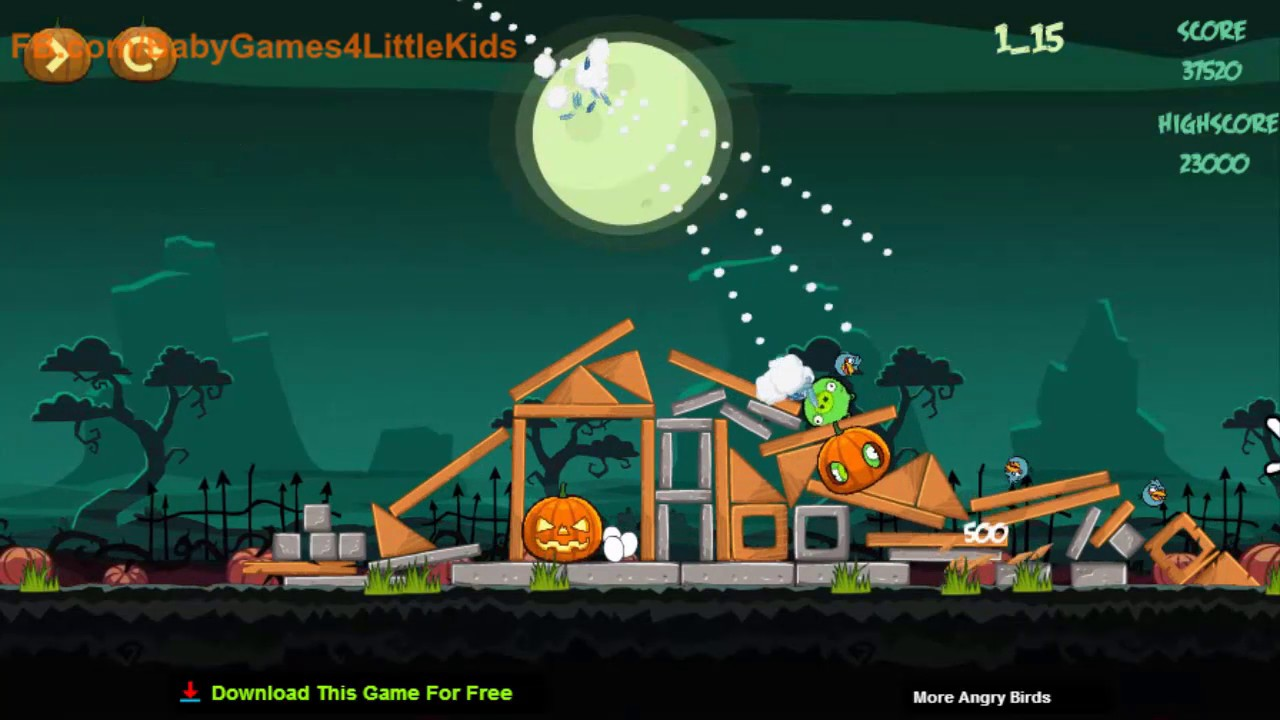 Angry Birds Halloween HD Game Play With Time Stamp - Halloween ...