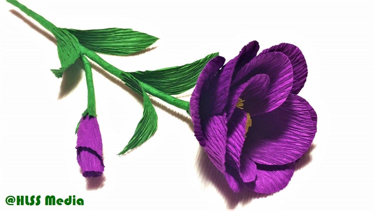 How to make origami purple rose paper flower tissue paper flower how to make origami purple rose paper flower tissue paper flower making easy crepe paper tutorials mightylinksfo