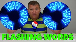 Hand fidget Spinner Flashing Words LED Test Review Francais ThinkUnBoxing