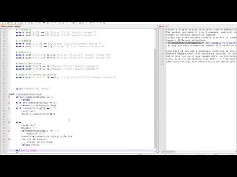 TDD Kata - String Calculator (Python)