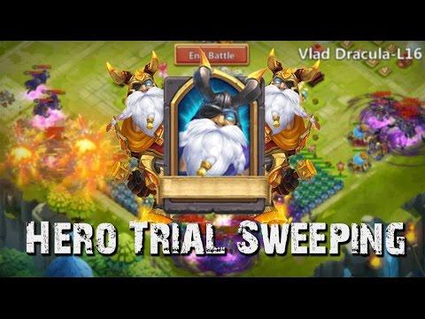 Castle Clash Hero Trial Sweeping (L15, L16, L17,)