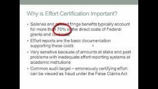 Understanding Effort Reporting