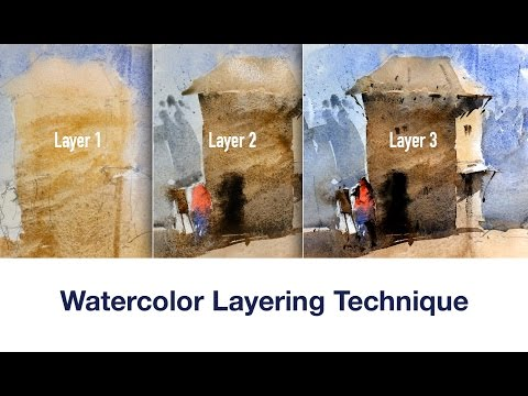 Beginner Watercolor tips and technique to get familiar with layering process