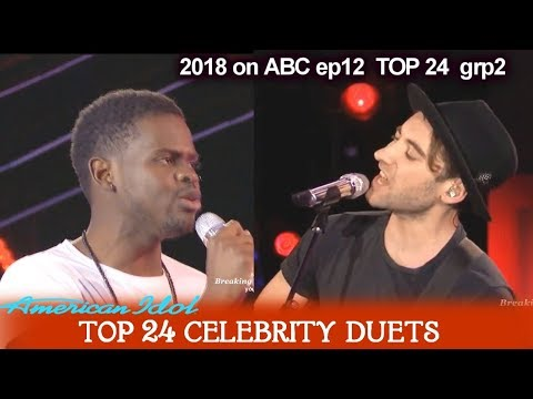 "Ron Bultongez and Banners Duet ""Someone To You"" Top 24 Celebrity Duets American Idol 2018"