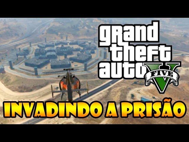 GTA V: INVADINDO A PRISÃO, REBELIÃO NO PRESÍDIO. - HABILIDADE DO TREVOR