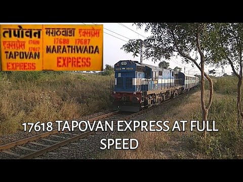 Download 17618 Tapovan Express is Aggressive towards Manmad jn.    Near Ankai killa
