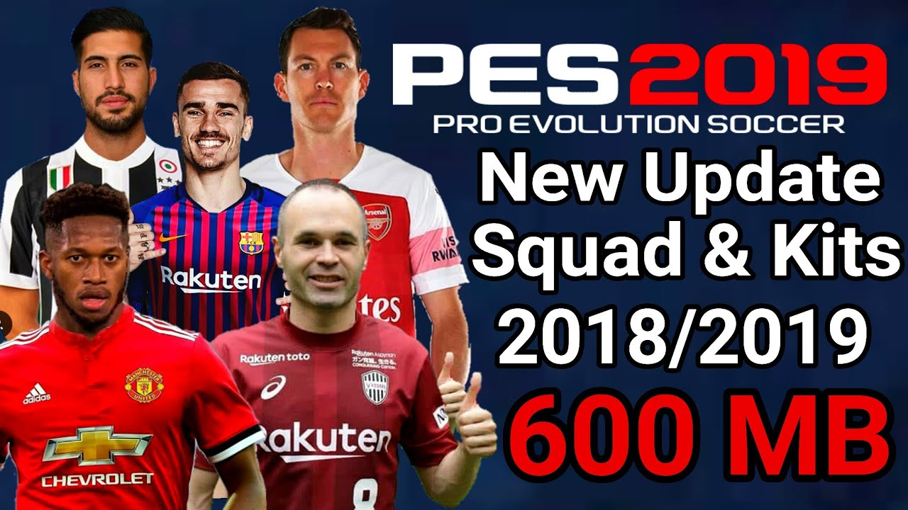 Download Pes 2019 New Update Android Ppsspp Kits Squad 2018 2019