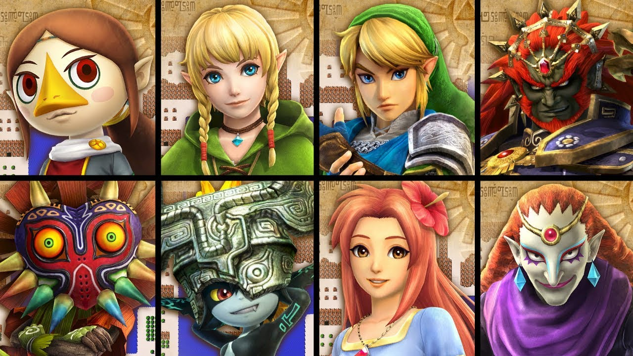 Hyrule Warriors Switch All Characters Youtube