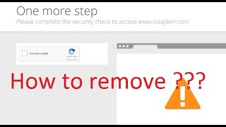 """How to remove """" I'M NOT A ROBOT """" - WORK 100%"""