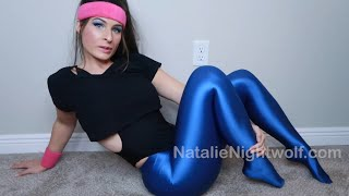 Shiny Spandex Leggings, Thong Leotard, High Heels TRY ON Haul ❤️ Natalie Nightwolf