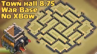 Clash of clans - Town Hall 8.75 War Base [TH9 No Xbow] with air sweeper 2015