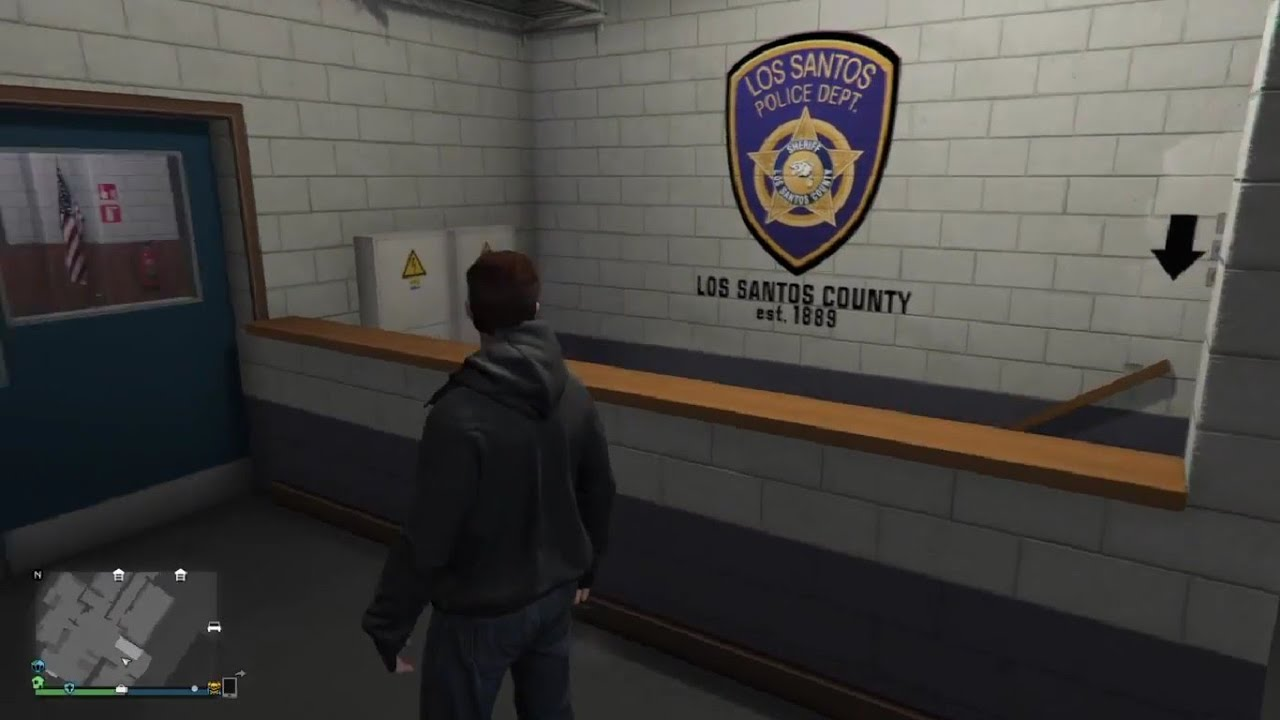 gta online how to get inside mission row 39 s police station youtube. Black Bedroom Furniture Sets. Home Design Ideas