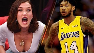 Bella Hadid Goes CRAZY Supporting Her New Boyfriend's Basketball Team