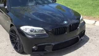 bmw f10 550i v8 tt bov and exhaust revs m5 killer