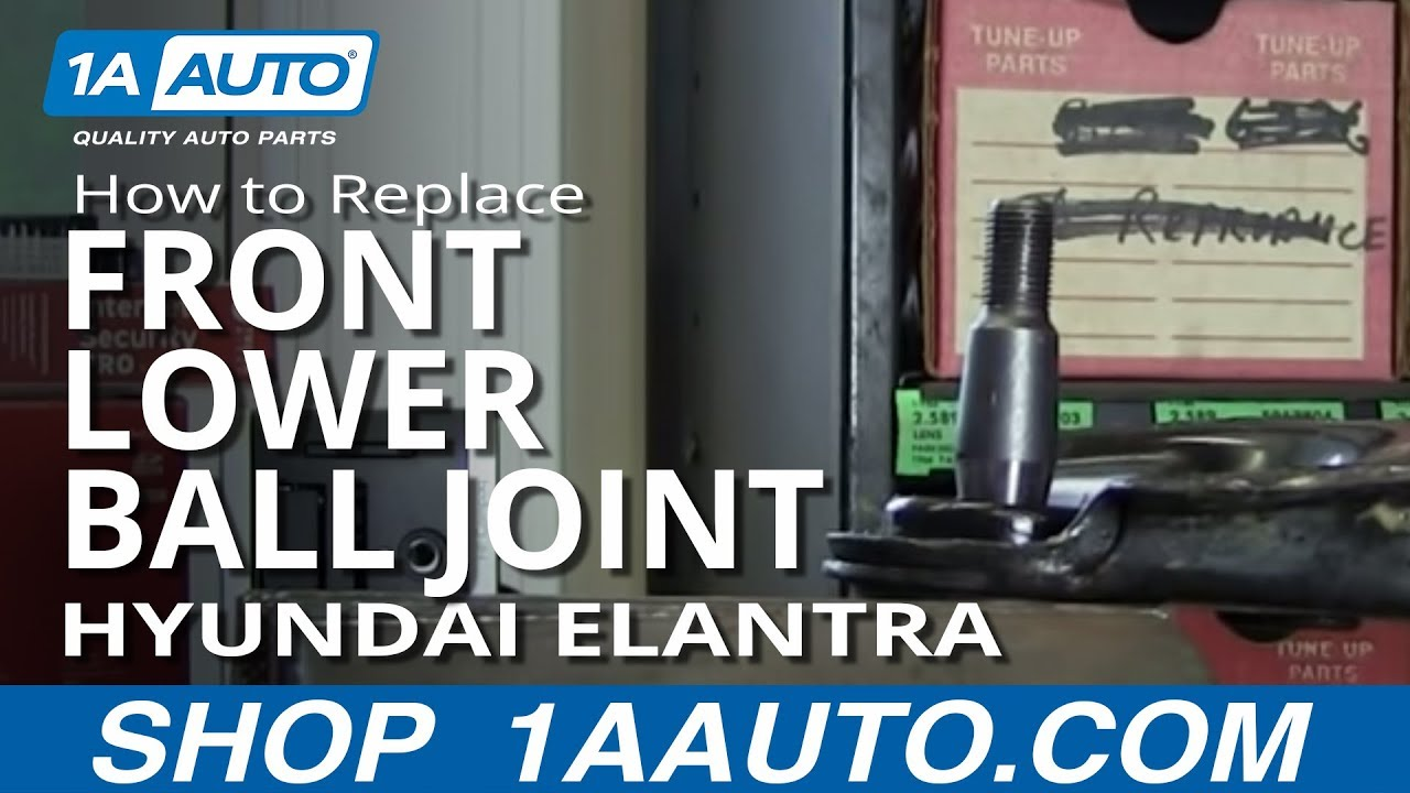 How To Replace Front Lower Ball Joint 01-06 Hyundai ...