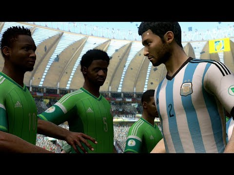 FIFA World Cup 2014: Argentina vs Nigeria (Group F) Simulation (EA FIFA World Cup 2014 Brazil)