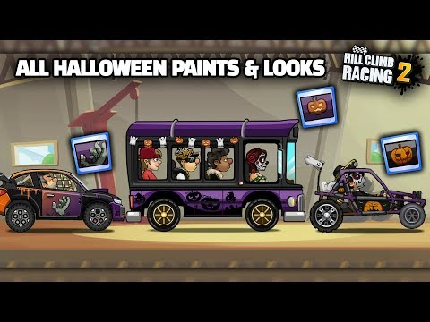 Hill Climb Racing 2 - ALL HALLOWEEN PAINTS AND LOOKS
