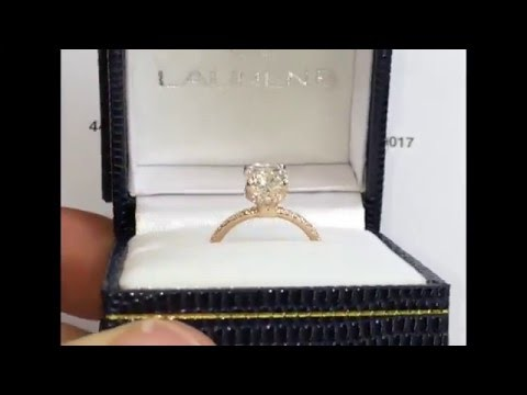 1.70 Carat Cushion Cut Engagement Ring in Rose Gold