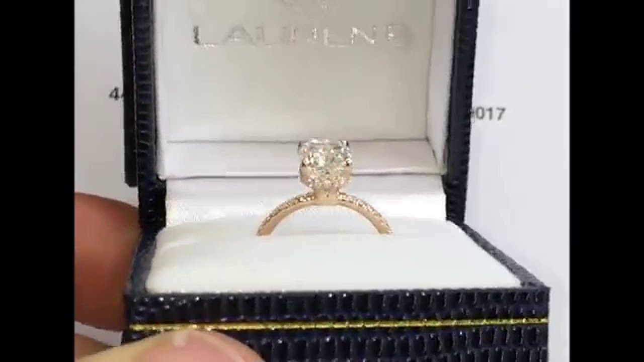 1 70 Carat Cushion Cut Engagement Ring In Rose Gold Youtube