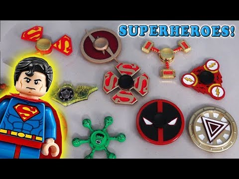 Fidget Spinners 💥 Justice League BATMAN 💥 Superhero Movie Pt 4 Review toys DC Comics Tricks Hack