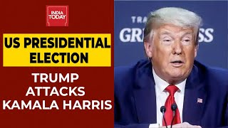 "Us president donal trump stated that he recently heard kamala harris doesn't meet the requirements to be vice of us. said, ""i have ..."