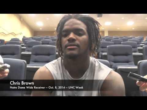 Notre Dame WR Chris Brown - UNC - 10/8/14