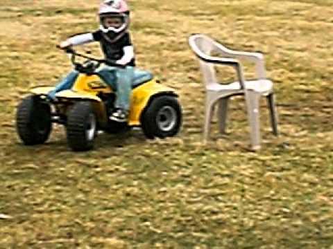 3 year old 4 wheeler riding suzuki 50 - YouTube