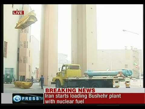 iran starts loading bushehr plant  with nuclear fuel