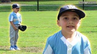LUMPY'S FIRST BASEBALL GAME!   Kleschka Vlogs