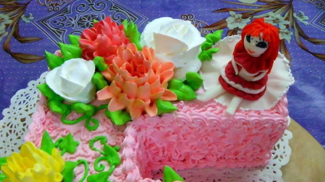 торт на 5 лет - YouTube