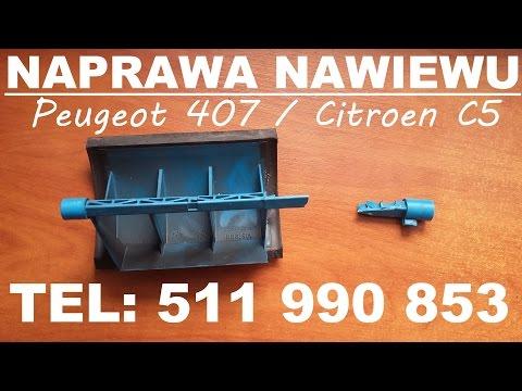 Peugeot 407 Citroen C5 naprawa nawiewu klapy mieszalnika klimy nagrzewnicy Serafin Investments