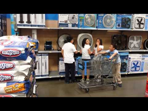 National anthem fans at Walmart video