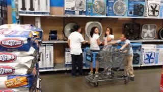 National Anthem Fans At Walmart