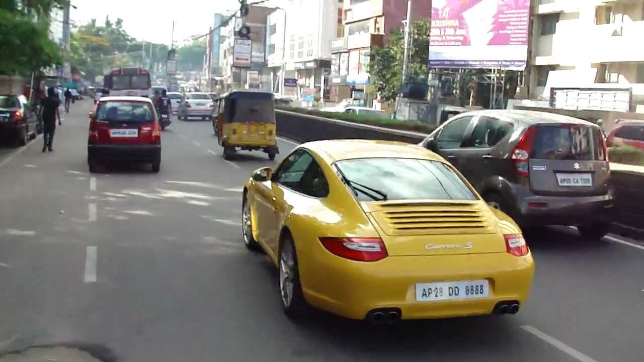porsche 911 carrera s in hyderabad india youtube. Black Bedroom Furniture Sets. Home Design Ideas