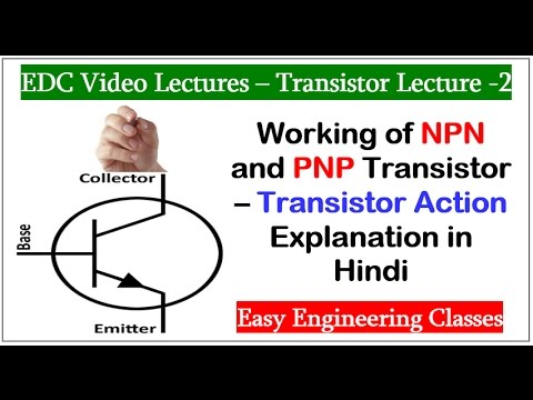 Working of NPN and PNP Transistor – Transistor Action Explanation in Hindi