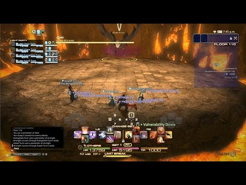 Final Fantasy XIV : Heavensward Palace Of The Dead Floor 110 Boss Fight ( Alicanto )