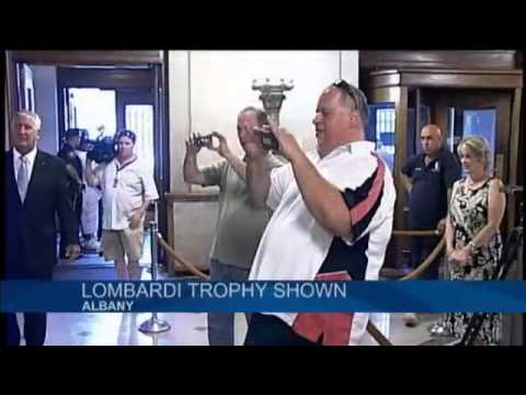 Lombardi Trophy visits Albany City Hall