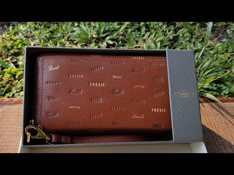 UNBOXING FOSSIL WALLET BROWN MULTI THE SERIES