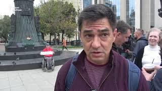 Одиночные пикеты оппозиции на Бульварном кольце