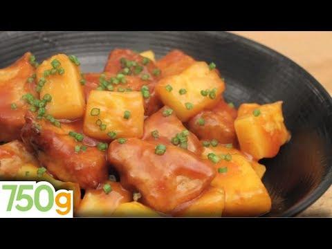 recette-de-porc-à-l'aigre-doux---750g