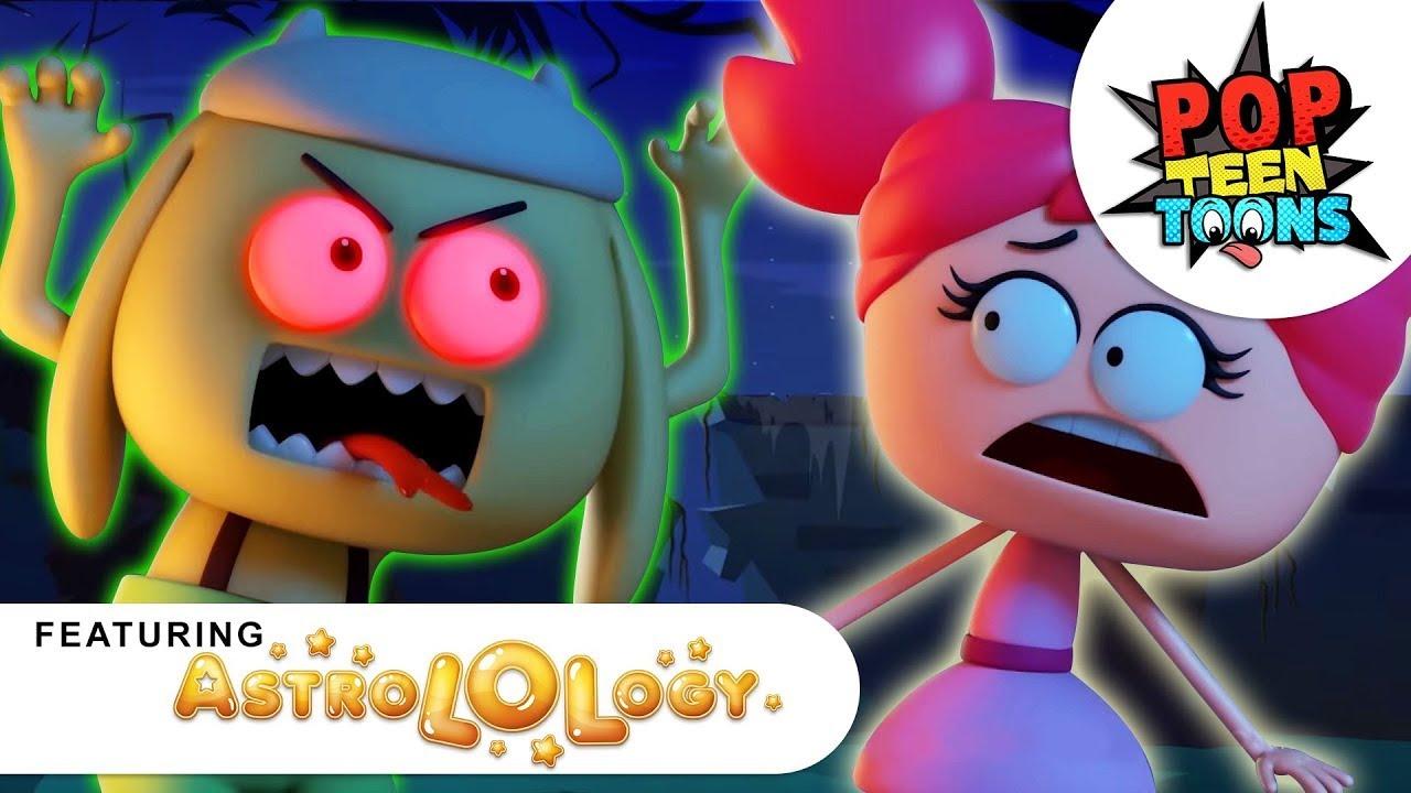 AstroLOLogy:Ghostbusted | Spooky Cartoon| Funny Cartoons on Pop Teen Toons